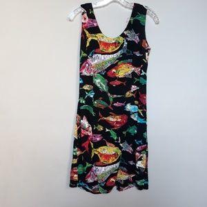 JAMS WORLD | Rare Tropical Fish Print Dress M